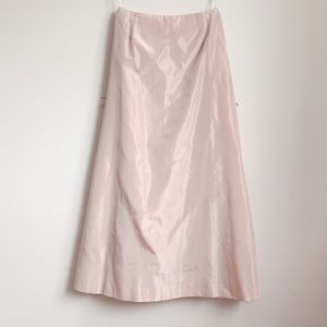 pearly pink vera wang highwaist floor length skirt